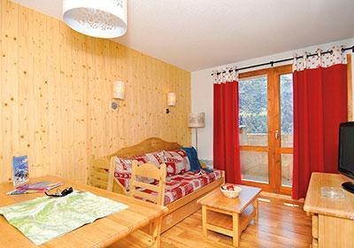 Location au ski Residence Le Grand Panorama 1 - Valmeinier - Coin séjour