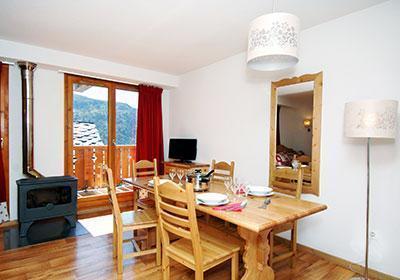 Location au ski Residence Le Grand Panorama 1 - Valmeinier - Salle à manger