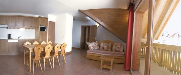 Location au ski Appartement 2-3 pièces cabine 8 personnes (BCT) - Residence Le Vermont - Valmeinier - Séjour