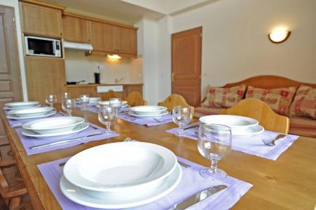 Location au ski Residence Le Vermont - Valmeinier - Coin repas