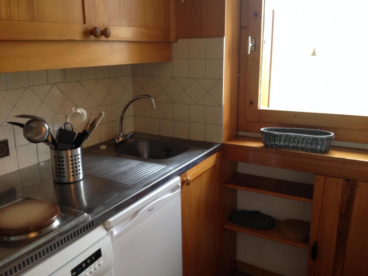 Location au ski Appartement 2 pièces 5 personnes (011) - Residence Le Pierrafort - Valmorel - Kitchenette