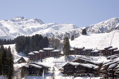 Location au ski Hôtel du Bourg - Valmorel - Extérieur hiver