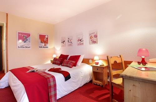 Rent in ski resort Comfort Room (1 or 2 persons) - Hôtel du Bourg - Valmorel - Bedroom