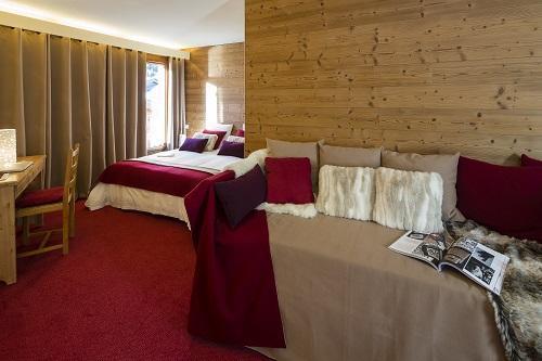Alquiler al esquí Habitación cuádruple (2 personas) - Hôtel du Bourg - Valmorel - Cama adicional 1 persona
