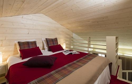 Alquiler al esquí Habitación duplex (tarifa 2 personas) - Hôtel du Bourg - Valmorel - Cama doble