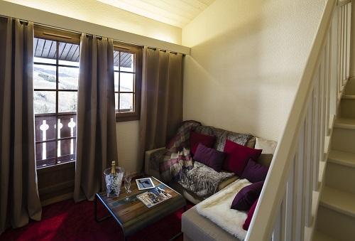 Alquiler al esquí Habitación duplex (tarifa 2 personas) - Hôtel du Bourg - Valmorel - Sofá