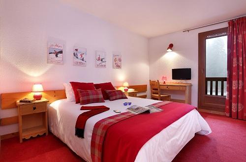 Wynajem na narty Pokój Comfort (1 do 2 osób) - Hôtel du Bourg - Valmorel - Łóżkem małżeńskim