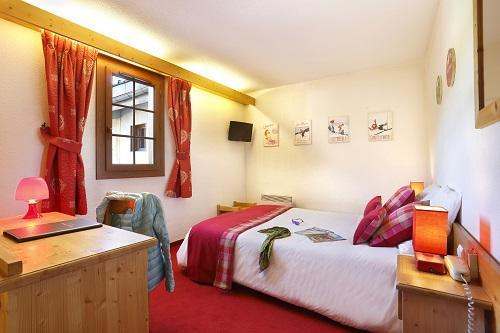Wynajem na narty Pokój Standard (1 do 2 osób) - Hôtel du Bourg - Valmorel - Pokój