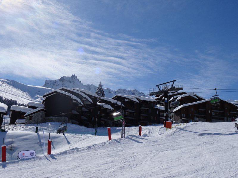Wakacje w górach Studio 5 osób (G106) - La Résidence les Côtes - Valmorel - Zima na zewnątrz