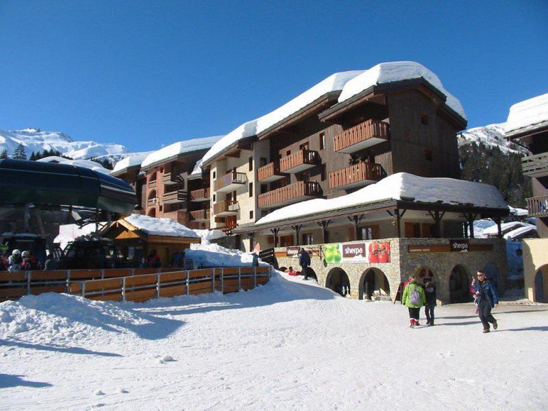 Wakacje w górach Apartament 2 pokojowy 6 osób (G300) - Résidence des Roches Blanches - Valmorel - Zima na zewnątrz