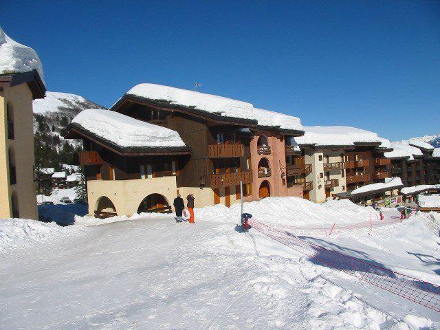 Wakacje w górach Apartament 2 pokojowy 5 osób (425) - Résidence des Roches Blanches - Valmorel - Zima na zewnątrz