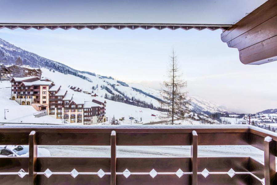 Location au ski Appartement 2 pièces 4 personnes (006) - Résidence l'Athamante - Valmorel - Extérieur hiver