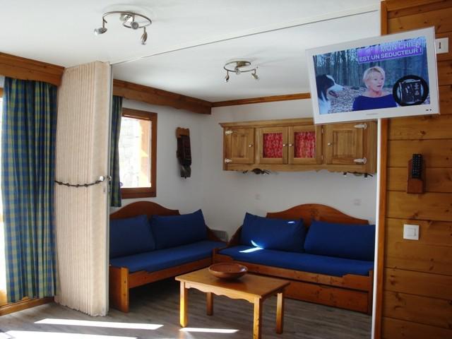 Ski verhuur Studio 5 personen (002) - Résidence l'Athamante - Valmorel - Woonkamer