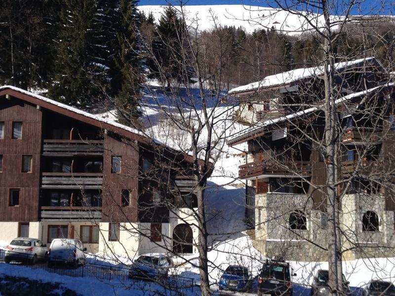 Location au ski Studio 4 personnes (005T) - Residence La Buche - Valmorel - Extérieur hiver