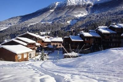 Location au ski Studio 4 personnes (005) - Résidence la Buche - Valmorel - Extérieur hiver