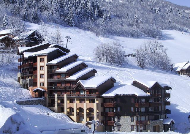 Location au ski Résidence la Camarine - Valmorel - Extérieur hiver