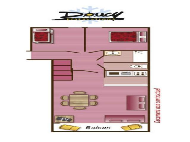 Location au ski Appartement 3 pièces 6 personnes (112) - Résidence la Duit - Valmorel - Plan