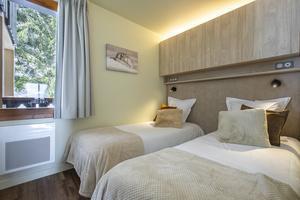Skiverleih Résidence la Duit - Valmorel - Schlafzimmer