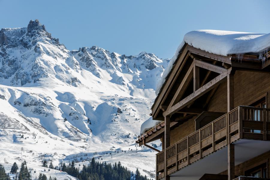 Urlaub in den Bergen Résidence la Grange Aux Fées - Valmorel - Draußen im Winter