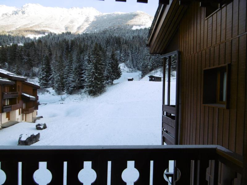 Ski verhuur Appartement 2 kamers 5 personen (046) - Résidence la Lauzière Dessous - Valmorel - Balkon