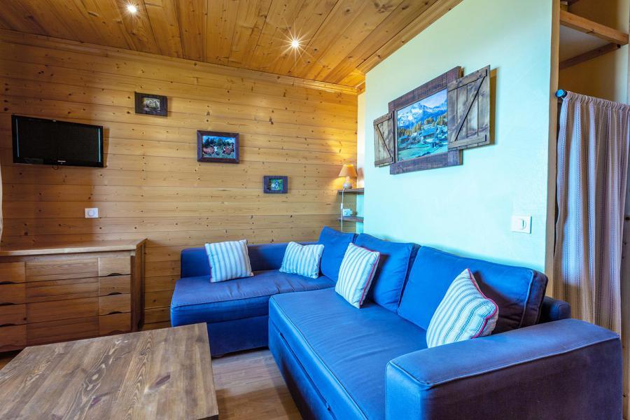 Location au ski Studio 4 personnes (026) - Résidence la Roche Combe - Valmorel - Coin séjour