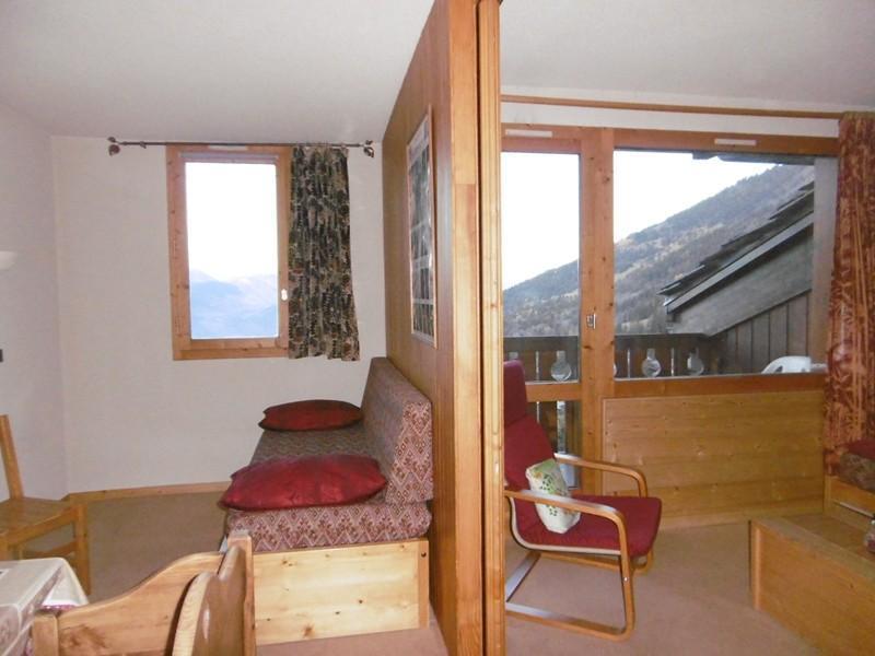 Location au ski Studio 4 personnes (037) - Residence La Roche Combe - Valmorel - Canapé