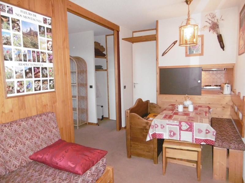 Location au ski Studio 4 personnes (037) - Residence La Roche Combe - Valmorel - Séjour