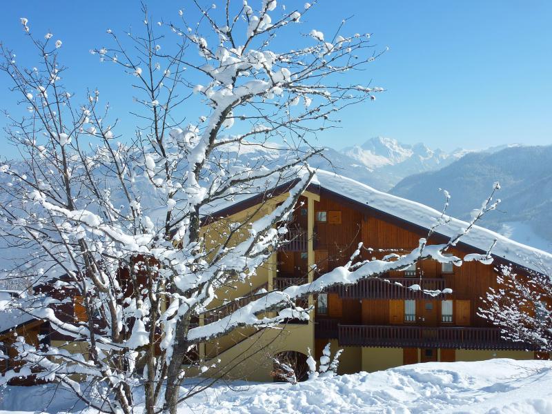 Ski verhuur Résidence le Beauregard - Valmorel - Buiten winter