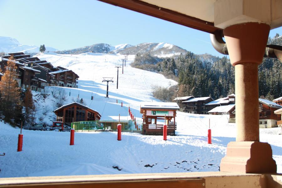 Location au ski Appartement 4 pièces 8 personnes (3/1) - Résidence le Bourg Morel G - Valmorel - Extérieur hiver