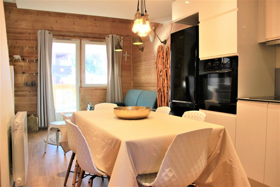 Ski verhuur Appartement 4 kamers 8 personen (3/1) - Résidence le Bourg Morel G - Valmorel - Tafel