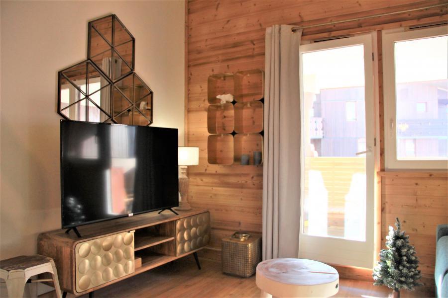 Ski verhuur Appartement 4 kamers 8 personen (3/1) - Résidence le Bourg Morel G - Valmorel - Woonkamer