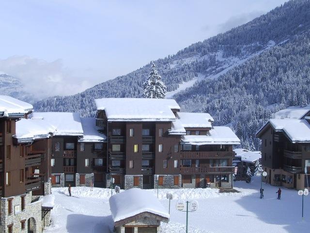 Ski verhuur Résidence le Côté Soleil - Valmorel - Buiten winter