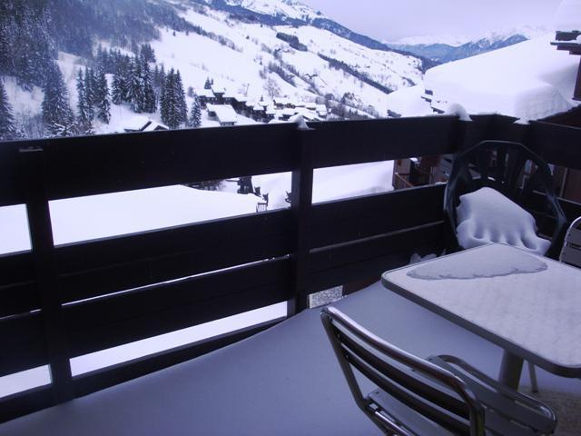 Vacances en montagne Studio cabine 4 personnes (025) - Résidence le Cristallin - Valmorel - Extérieur hiver