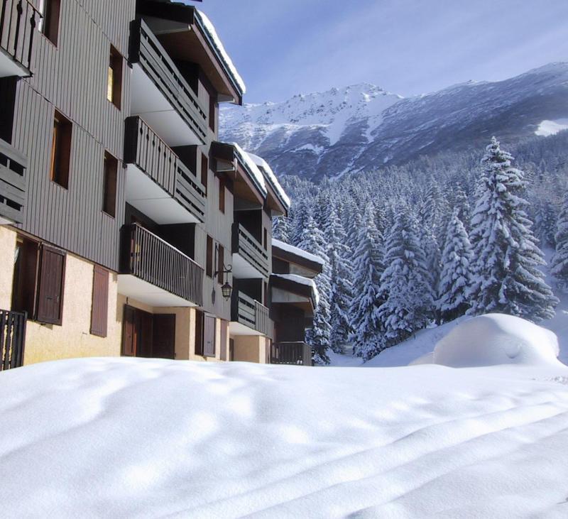 Location au ski Studio 3 personnes (063) - Résidence le Gollet - Valmorel - Extérieur hiver