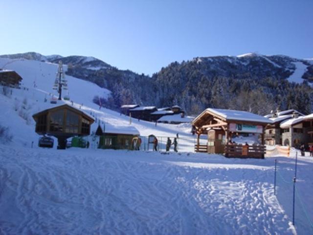 Vacances en montagne Studio 4 personnes (011) - Résidence le Morel - Valmorel - Extérieur hiver