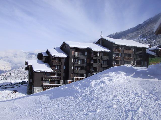 Vacances en montagne Résidence le Pierrafort - Valmorel - Extérieur hiver