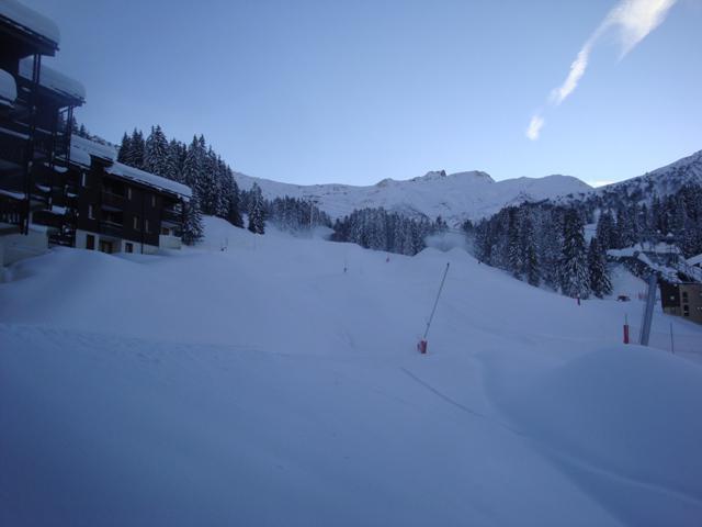 Vacances en montagne Appartement 2 pièces 4 personnes (029) - Résidence le Pierrafort - Valmorel - Extérieur hiver