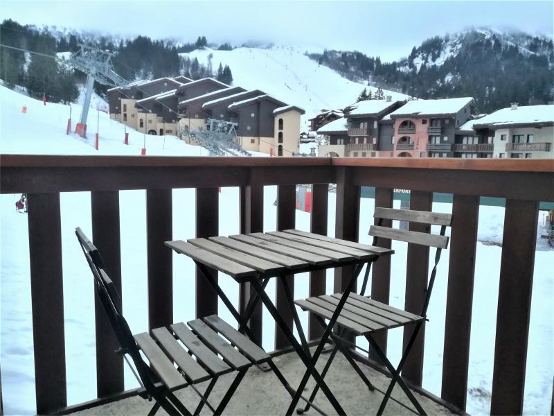 Location au ski Appartement 2 pièces 5 personnes (019) - Résidence le Pierrafort - Valmorel - Balcon