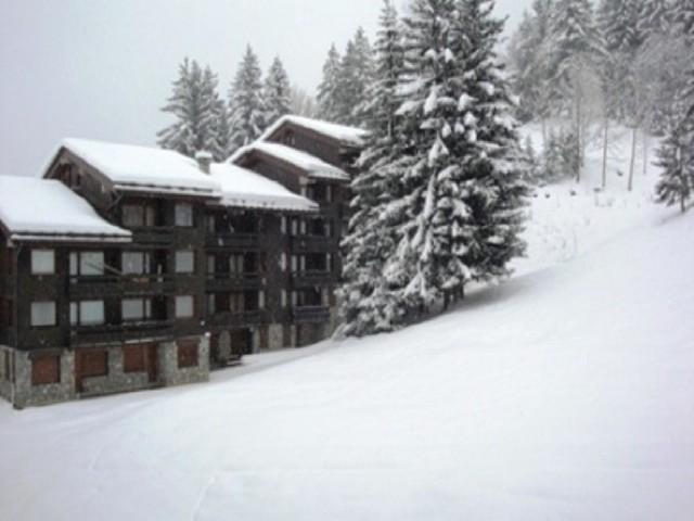 Ski verhuur Studio 4 personen (051) - Résidence le Pierrer - Valmorel - Buiten winter