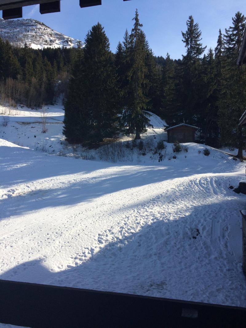 Location au ski Studio 4 personnes (035) - Résidence le Pierrer - Valmorel - Extérieur hiver