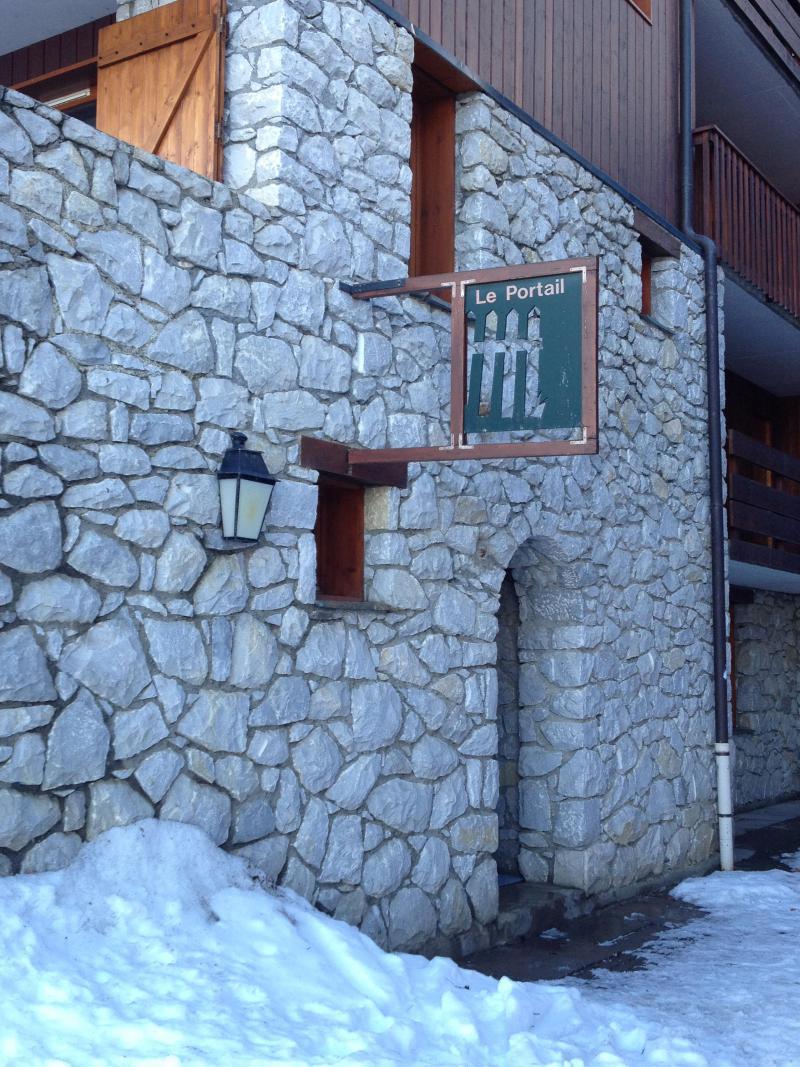 Ski verhuur Résidence le Portail - Valmorel - Buiten winter