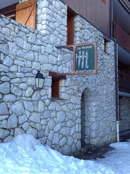 Vacances en montagne Studio 2 personnes (051) - Résidence le Portail - Valmorel - Extérieur hiver