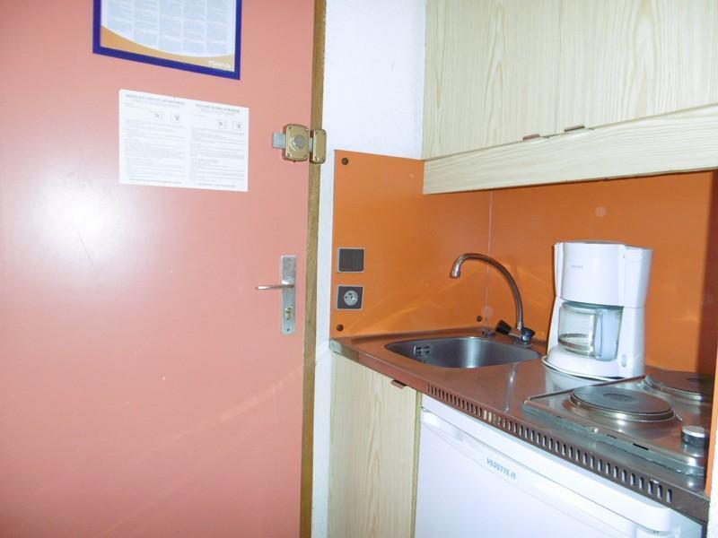 Location au ski Studio 2 personnes (071) - Residence Le Portail - Valmorel - Kitchenette