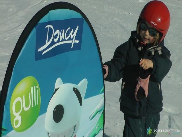 Location au ski Studio 4 personnes (14) - Residence Le Sappey - Valmorel - Extérieur hiver
