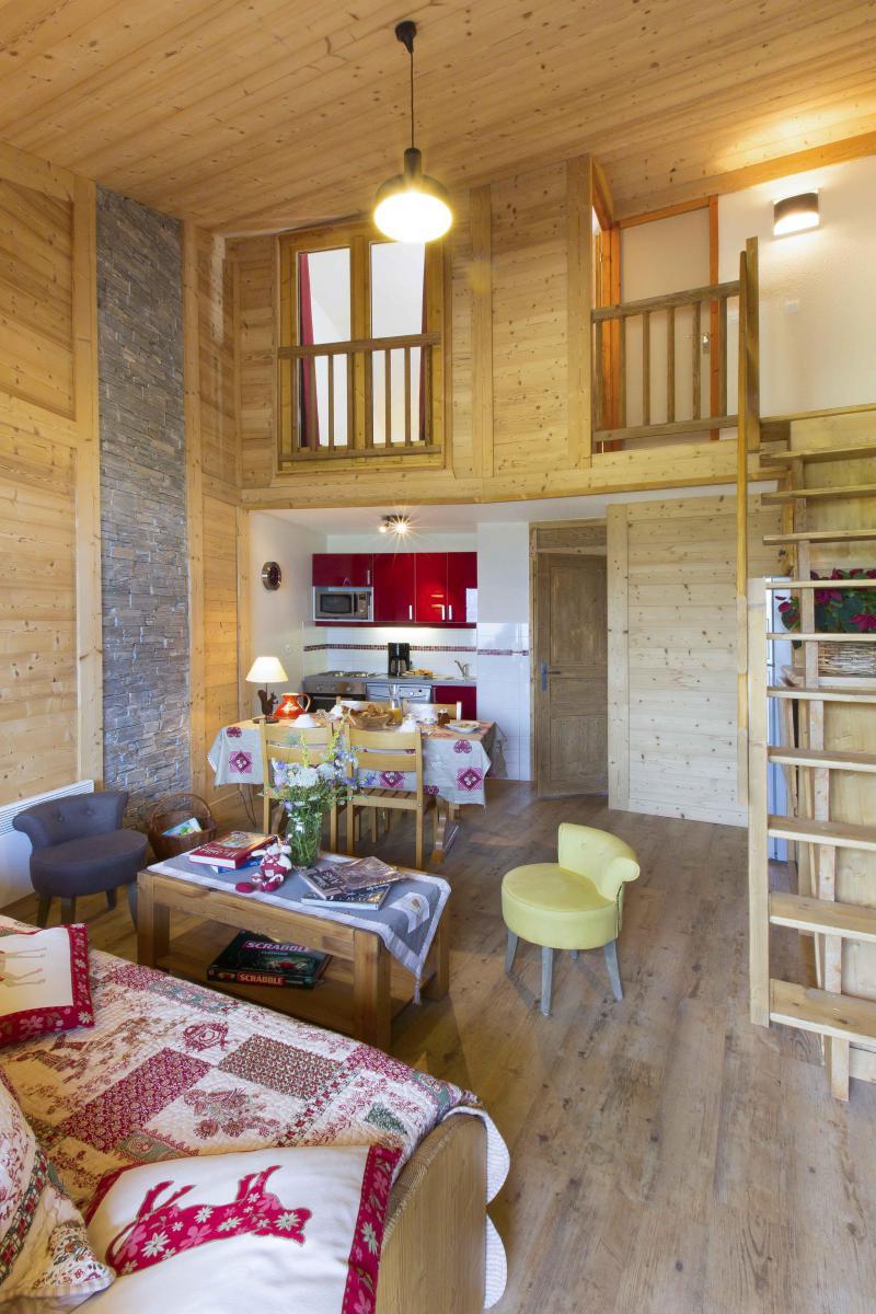 Location au ski Appartement duplex 4 pièces 8 personnes - Résidence le Sappey - Valmorel - Séjour
