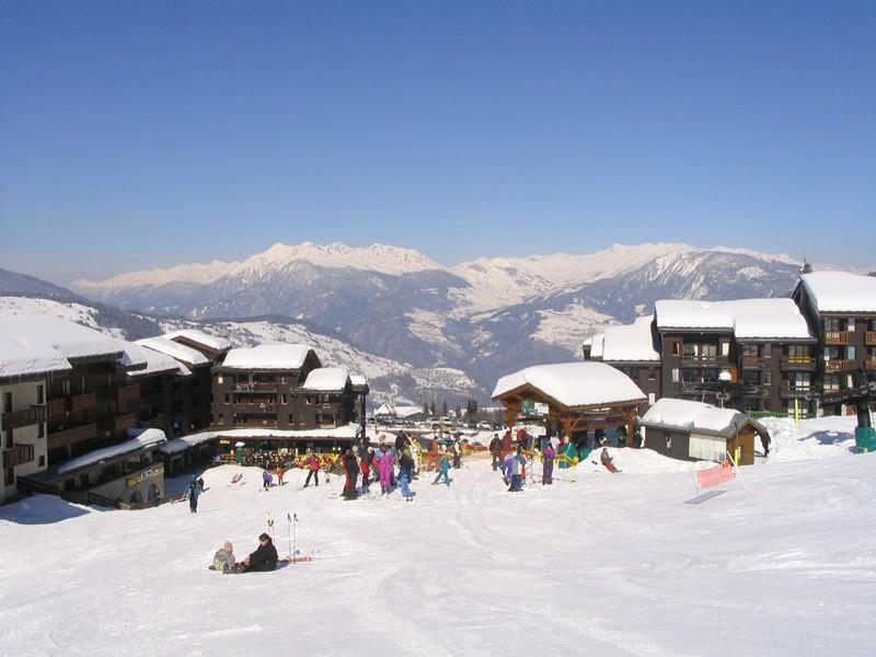 Location au ski Studio 4 personnes (019) - Résidence les Pierres Plates - Valmorel - Extérieur hiver