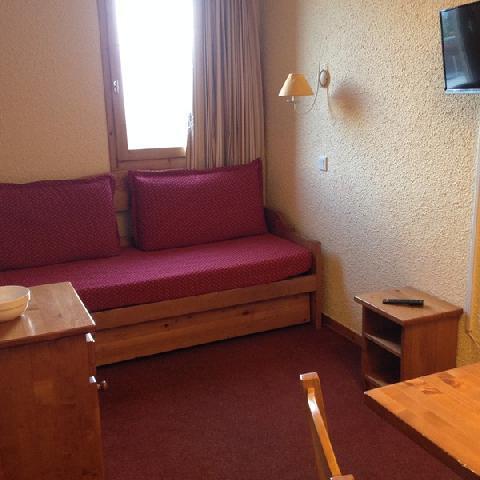 Location au ski Studio 4 personnes (009) - Résidence les Pierres Plates - Valmorel - Banquette-lit