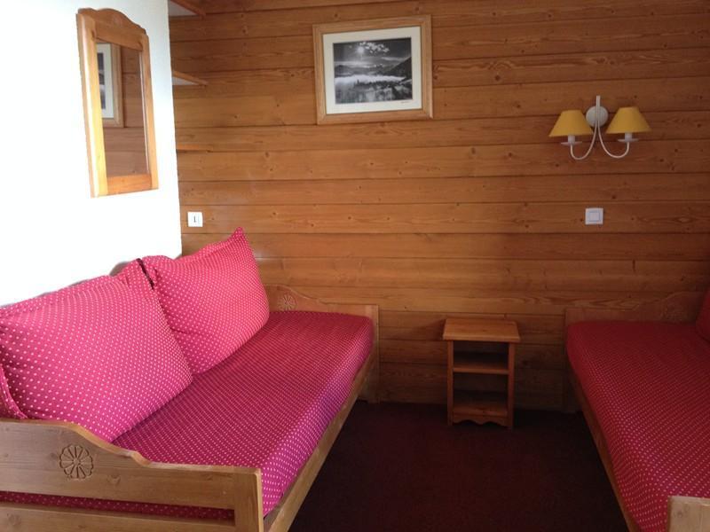Location au ski Studio 4 personnes (028) - Résidence les Pierres Plates - Valmorel - Banquette-lit