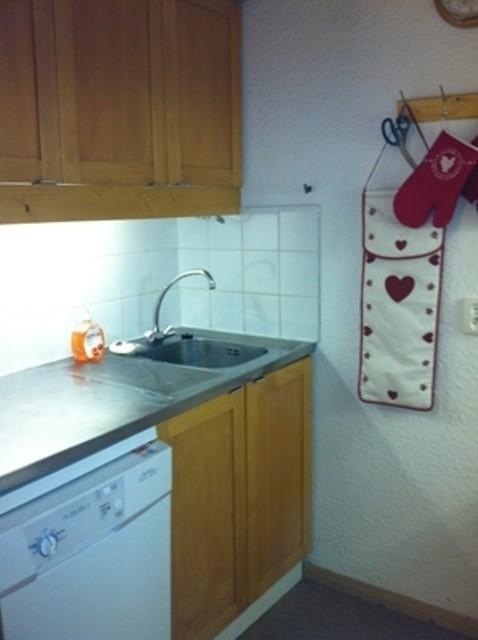 Location au ski Studio divisible 4 personnes (037) - Residence Les Teppes - Valmorel - Kitchenette