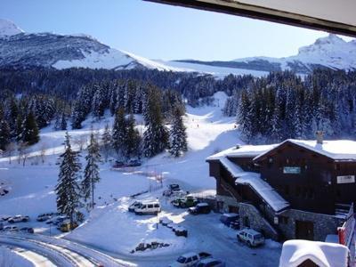 Vacances en montagne Appartement 2 pièces 6 personnes (009) - Résidence la Roche Combe - Valmorel - Extérieur hiver